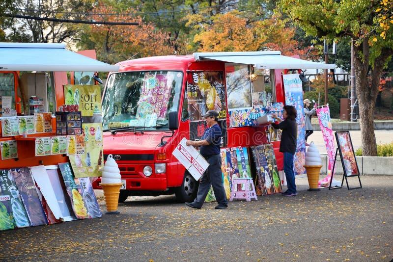 Japan ice cream truck stock photos