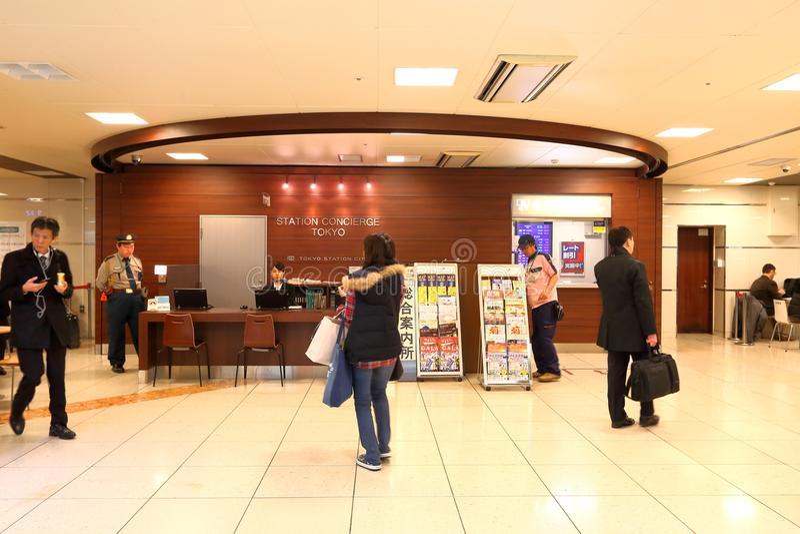 Japan JR station. Information counter at Tokyo JR station royalty free stock image