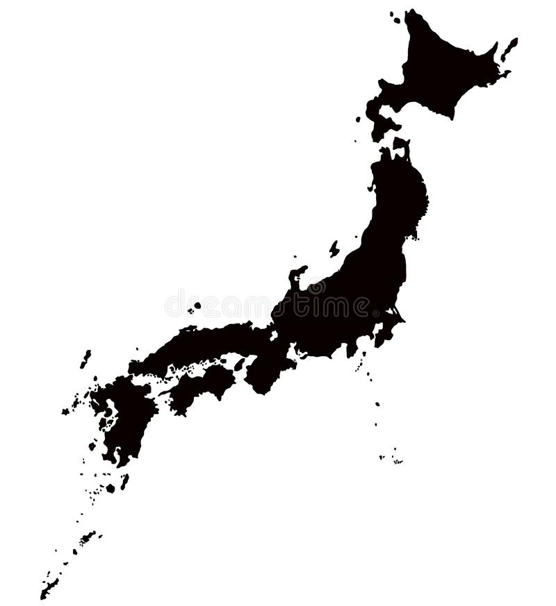 Japan-Kartenentwurfsvektor lizenzfreies stockfoto
