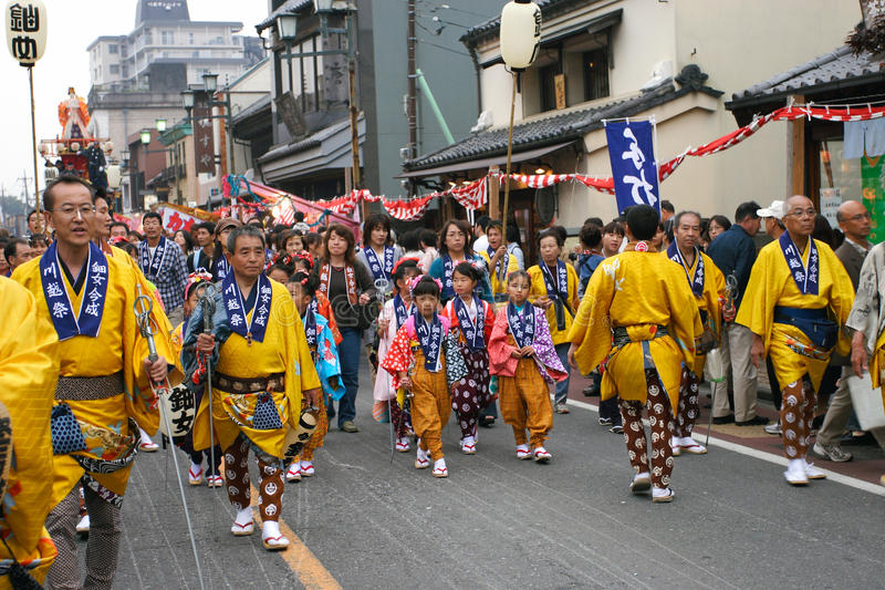 Japan : Kawagoe Festival royalty free stock photography