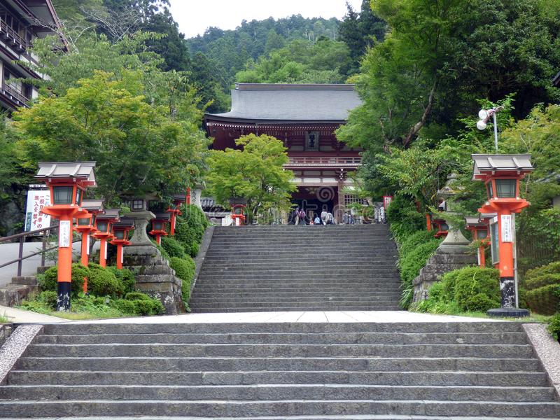 japan Kurama-Tempel stockbilder