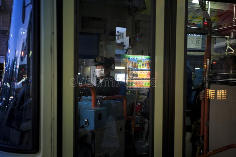 Japan - Kyoto - bus driver stock photo