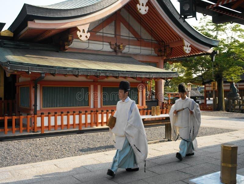 Japan - Kyoto - Fushimi Inari Taisha relikskrin arkivfoto