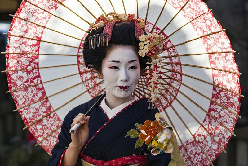 Japan - Kyoto - The Gion neighborhood and geisha royalty free stock photo