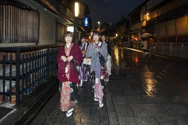 Japan - Kyoto - The Gion neighborhood and geisha stock photos