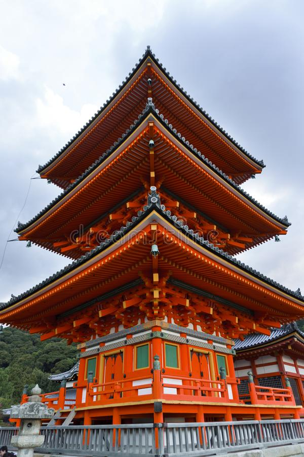 Japan, Kyoto, Maruyama Park and its temples. Seen from the outside royalty free stock image