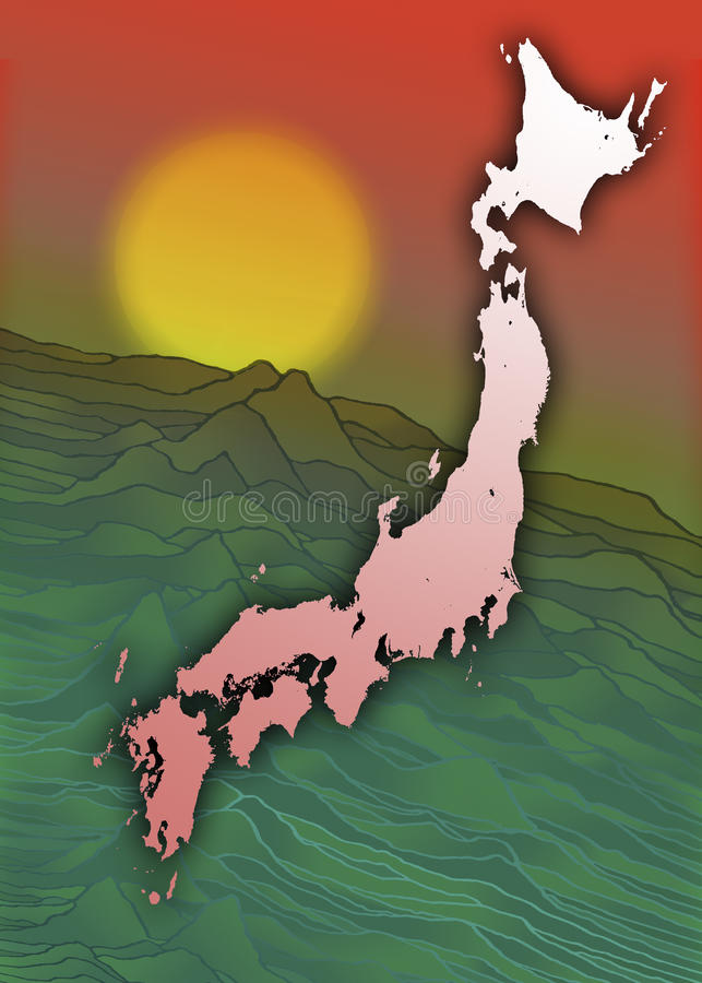 Download Japan - Land Of The Rising Sun Stock Illustration - Image: 15071904