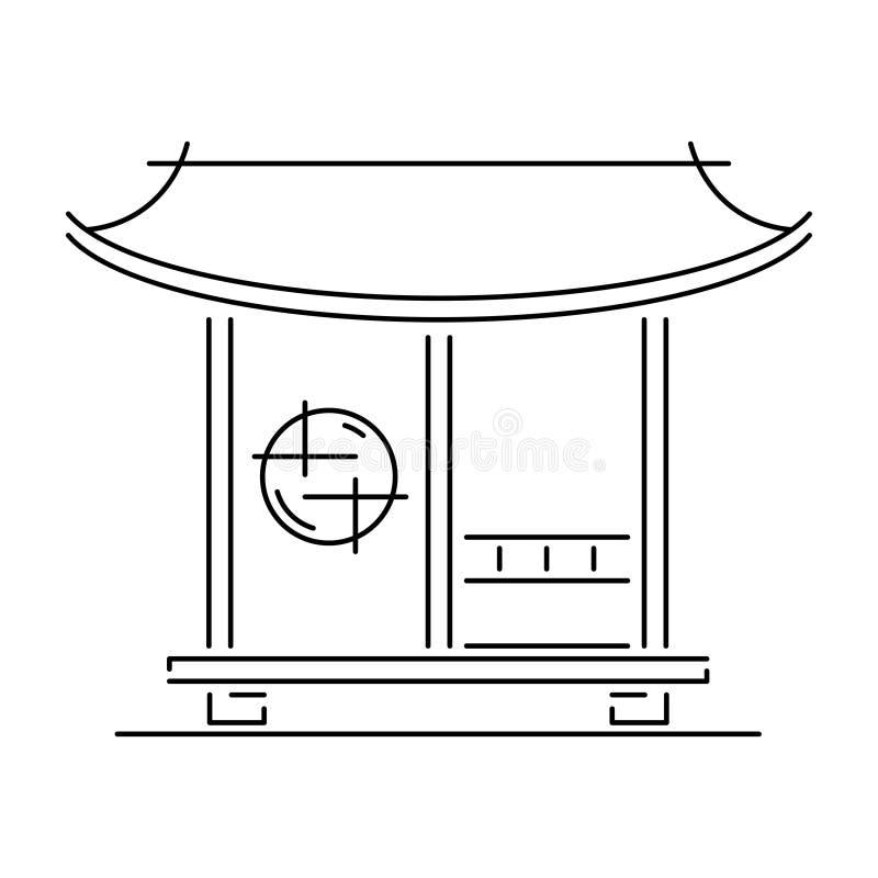Tea Logos Collection: Japanese Tea House And Garden Stock Illustration
