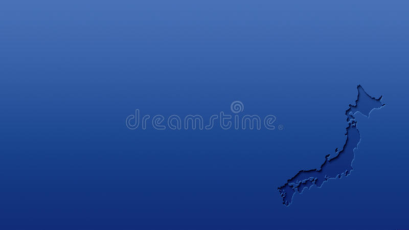 Download Japan Map Blank Wallpaper Background Cut Out Effect 3d Stock Illustration