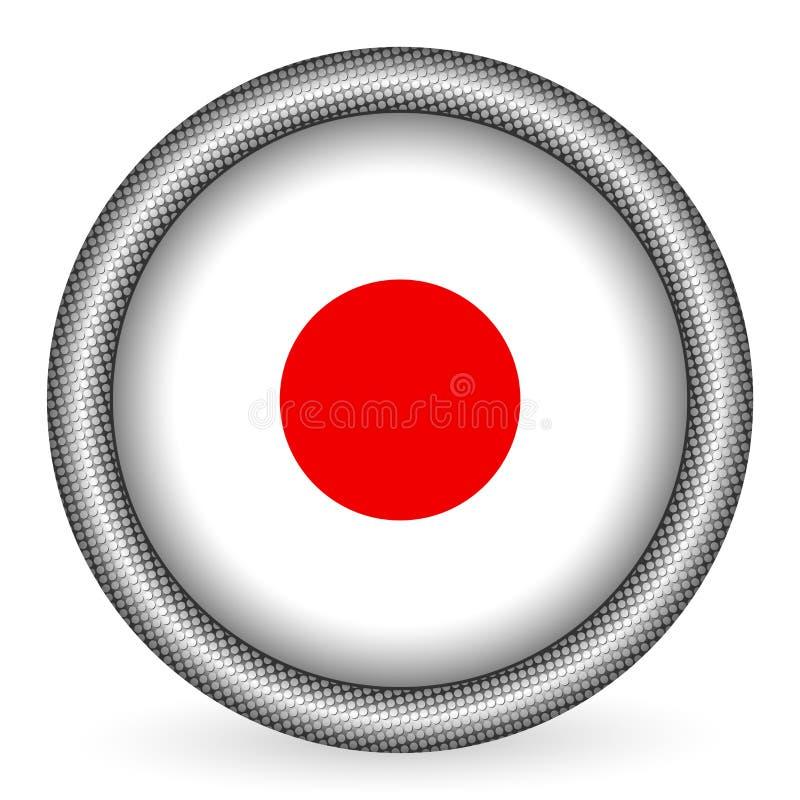 Japan-Markierungsfahnentaste stock abbildung