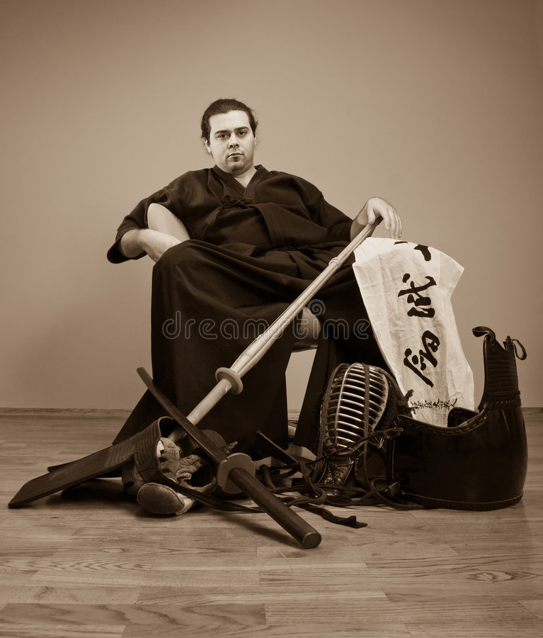 Download Japan Martial Art Master With Sword Concept Stock Photo - Image: 4693396
