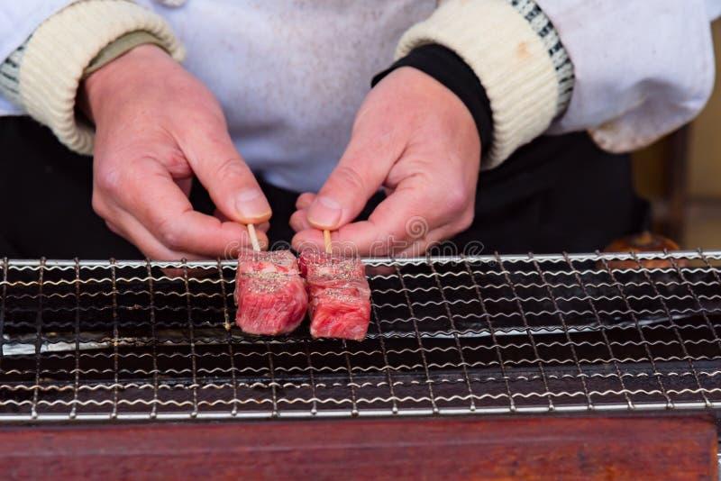 Japan A5 nötkött arkivbild