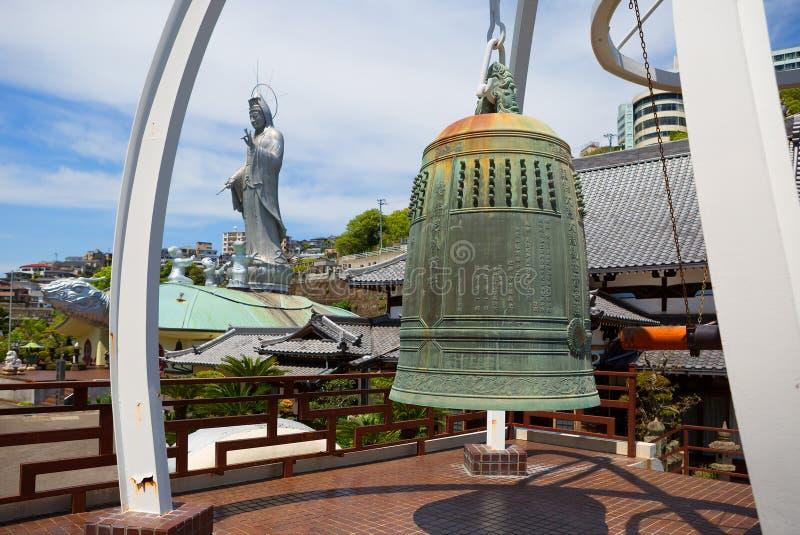 japan naakt De klok in Fukusai templel royalty-vrije stock foto