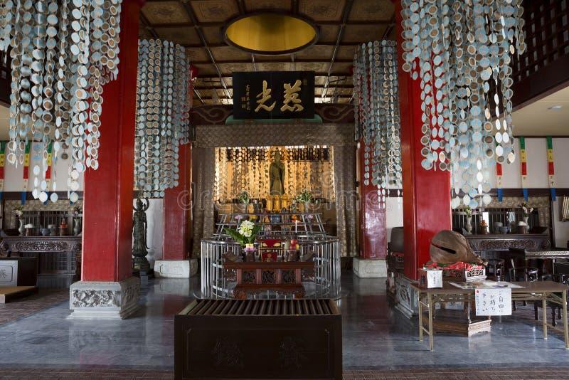 japan naakt In Fukusai-tempel stock fotografie