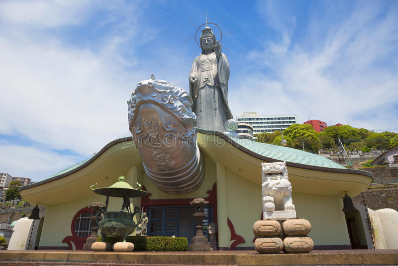 japan naakt Fukusaitempel royalty-vrije stock afbeelding