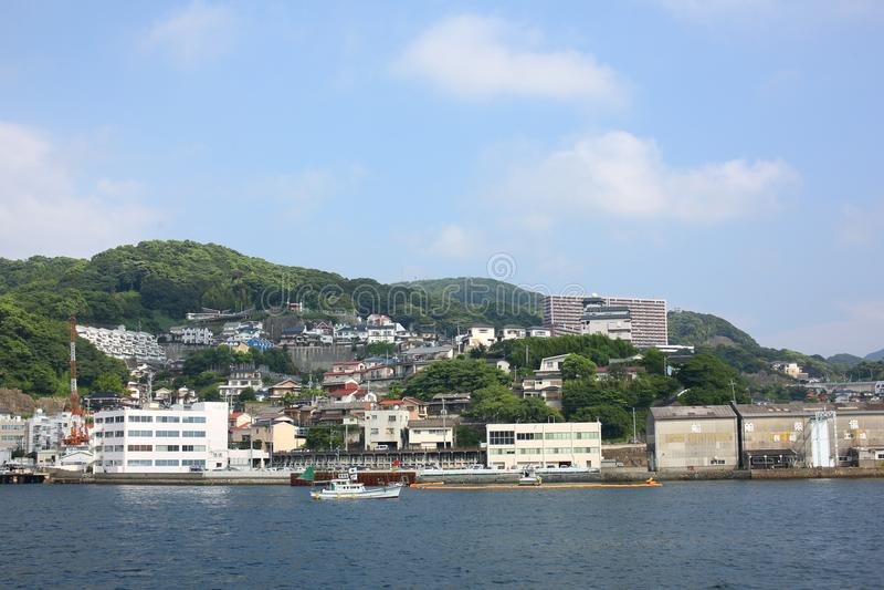 Japan Nagasaki, Eilandmening royalty-vrije stock fotografie