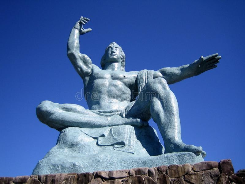 japan Nagasaki pokoju statua obraz royalty free