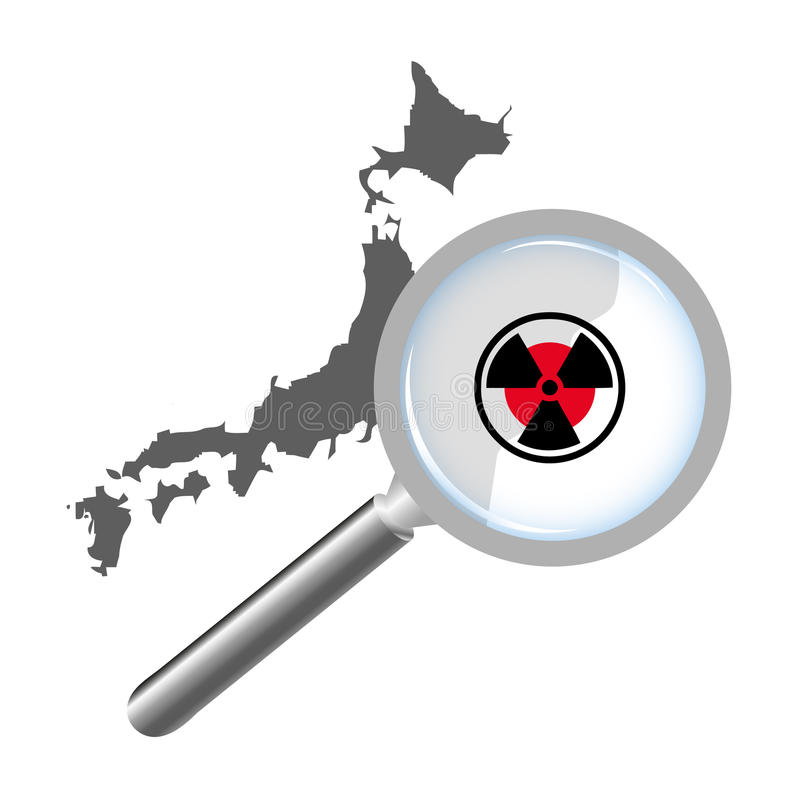 Japan Nuclear Danger royalty free stock photo