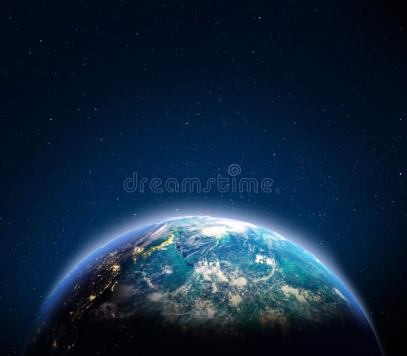 Japan and Oceania. Elements of this image furnished by NASA. 3d rendering stock photography