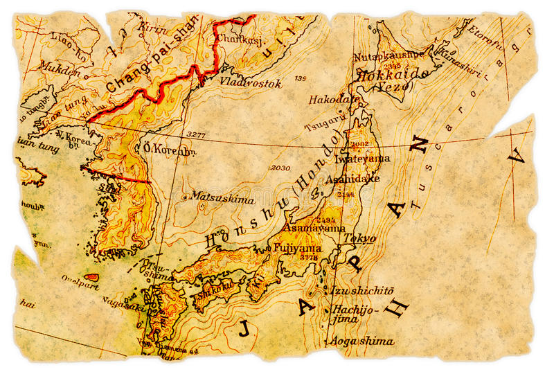 Download Japan old map stock photo. Image of vintage, geography - 17022448