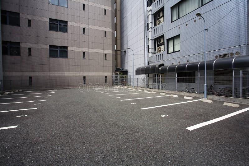 Japan Osaka Empty parkeringsplats arkivfoto