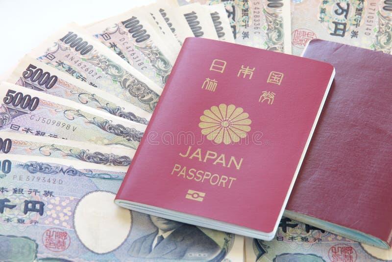 Japan passport stock image