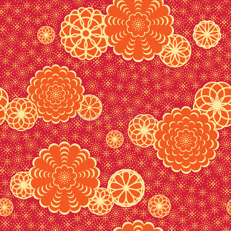 Japan pattern with flowers royalty free illustration