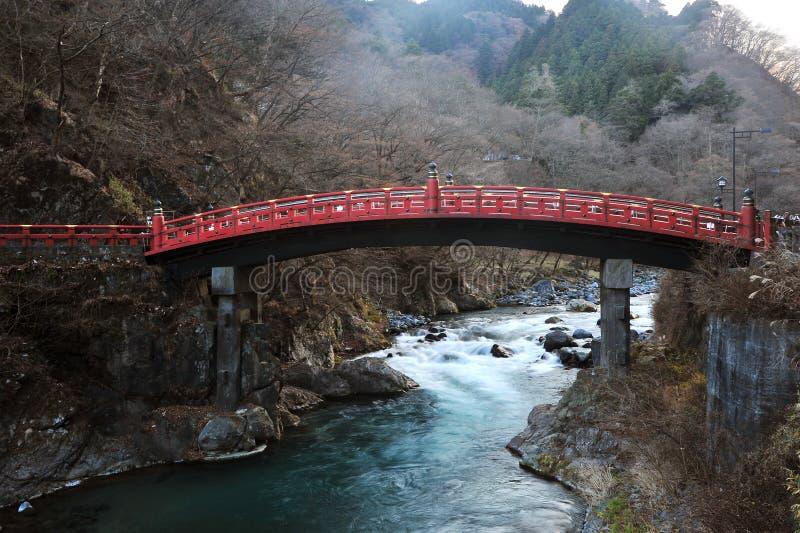 Download Japan red sacred bridge stock image. Image of cliff, river - 23217427