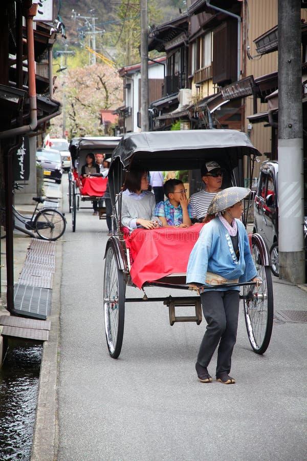Japan rickshaw royaltyfri foto