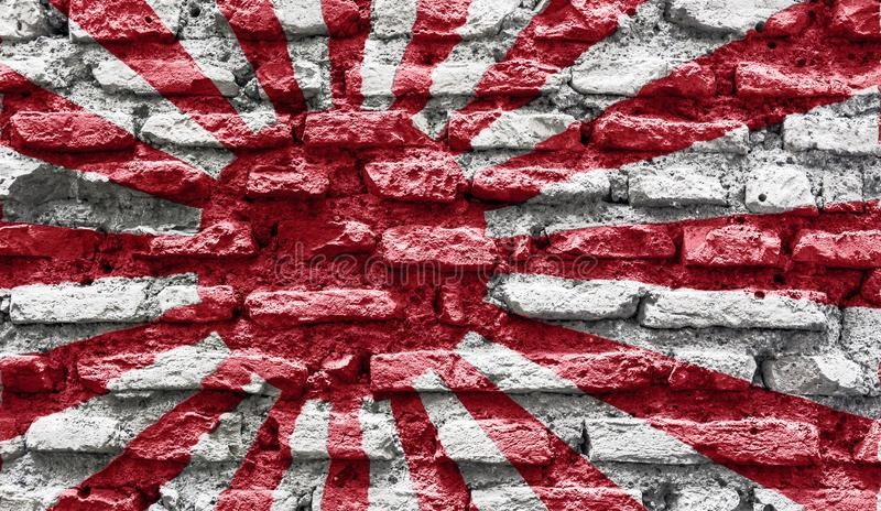 Japan rising sun ancient wall stock photography