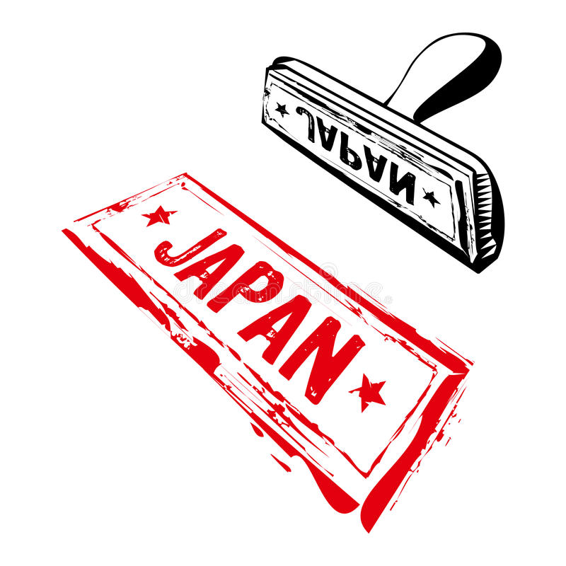 Download Japan rubber stamp stock vector. Illustration of graphic - 17605901