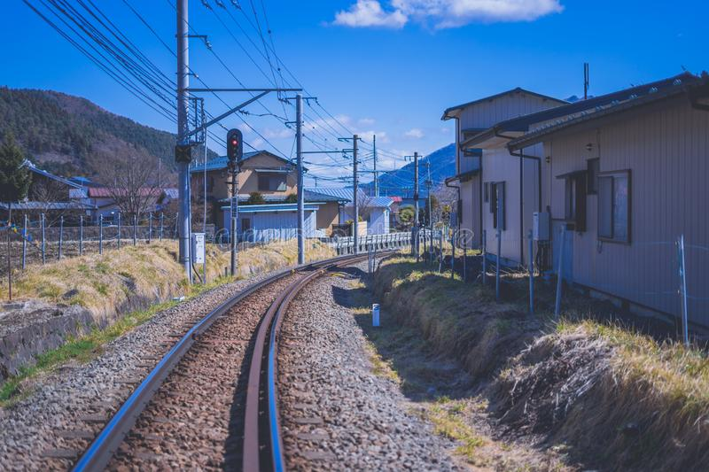 Country Railway in Japan royalty free stock images