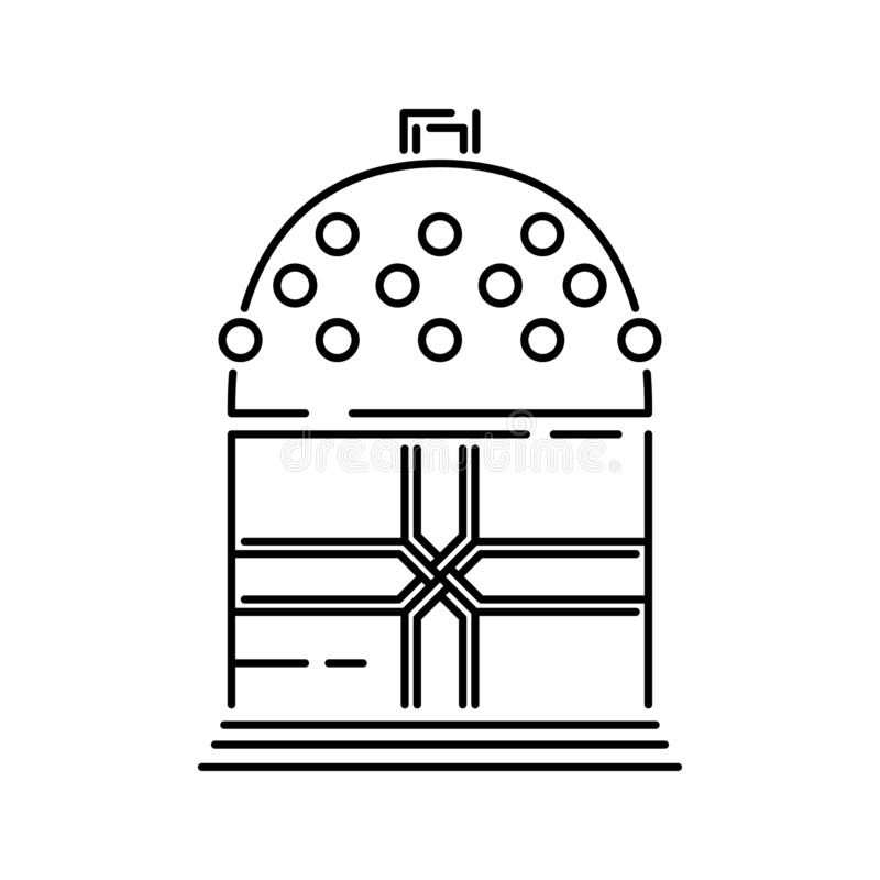 Japan shinto ceremony bell vector illustration simplified travel icon. Ritual tocsin. Buddha shrine. Chinese, asian. Landscape traditional symbol. Ethnic symbol vector illustration
