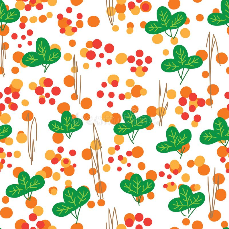Japan simply Sakura leaf seamless pattern royalty free illustration