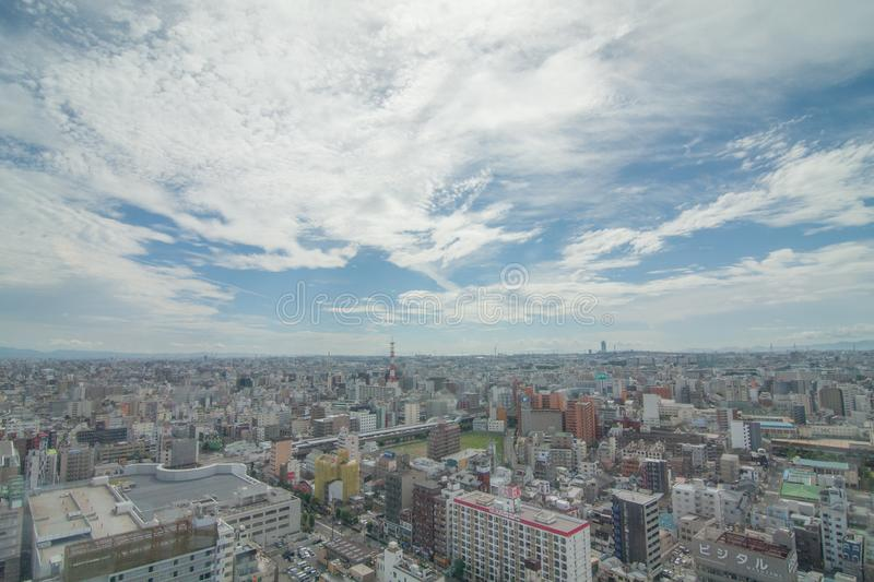 Japan sky in blue royalty free stock images