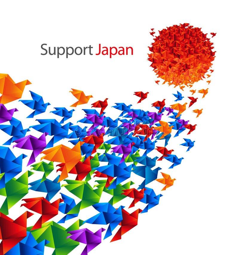 Japan social art vector illustration