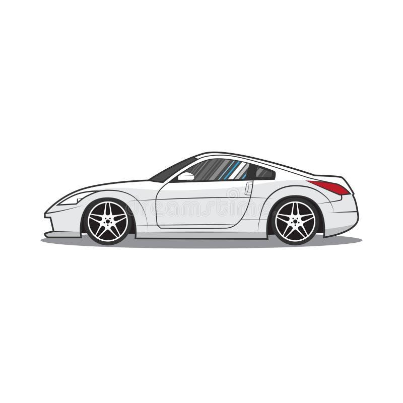 Japan sport car. Car sketch. Side view. Vector illustration eps 10 stock illustration