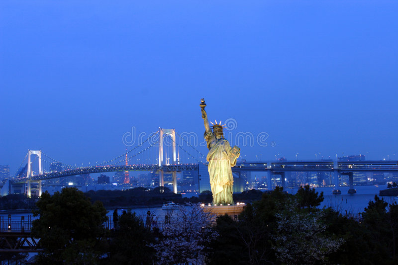 Japan : Statue of Liberty in Tokyo royalty free stock image