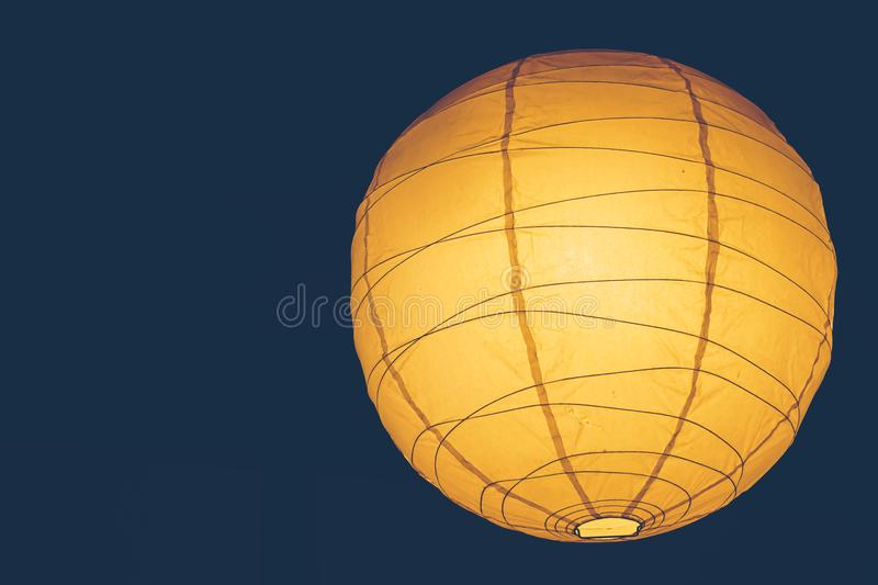 Japan style light bulb in coffee cafe. Vintage color tone background stock images