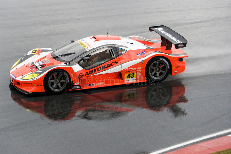 Japan Super GT 2009 - Autobacs Rennend Team Aguri royalty-vrije stock foto's