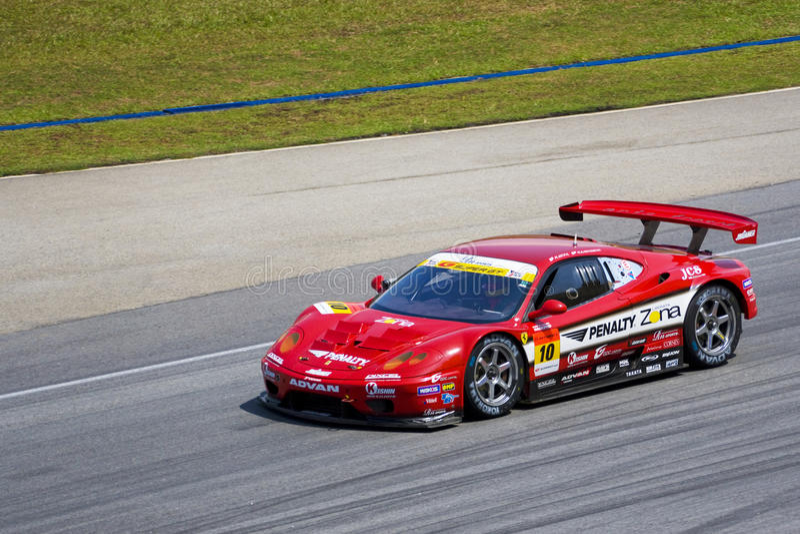 Japan Super GT 2009 - Team Jim Gainer Racing stock afbeelding