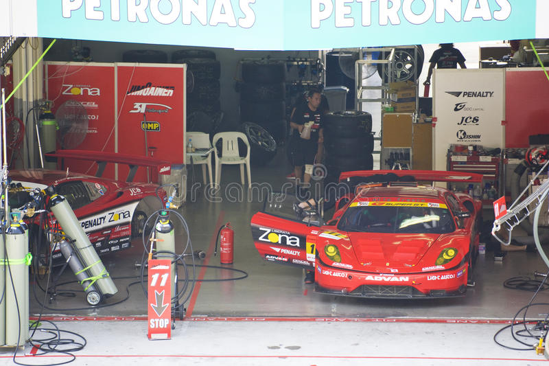 Japan Super GT 2009 - Team Jim Gainer Racing royalty-vrije stock fotografie