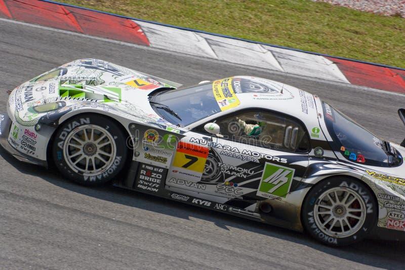 Japan Super GT 2009 - Team M7 AANGAANDE het Rennen Amemiya stock fotografie