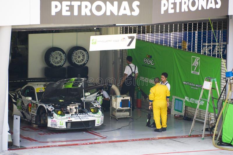 Japan Super-GT 2009 - Team M7 BEZÜGLICH Amemiya des Laufens stockbild