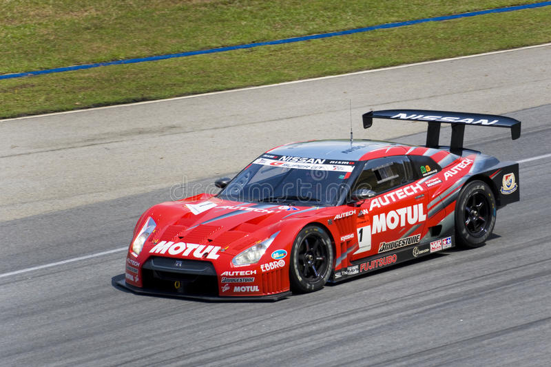 Japan Super GT 2009 - Team Nismo royalty-vrije stock afbeelding