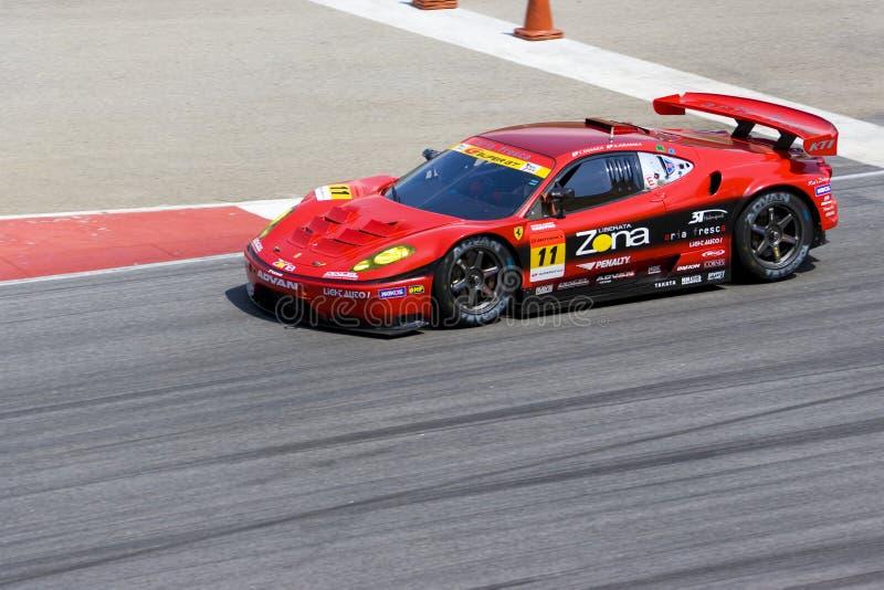 Japan Super-GT 2009 - Teamjim-Gewinner-Laufen lizenzfreies stockbild