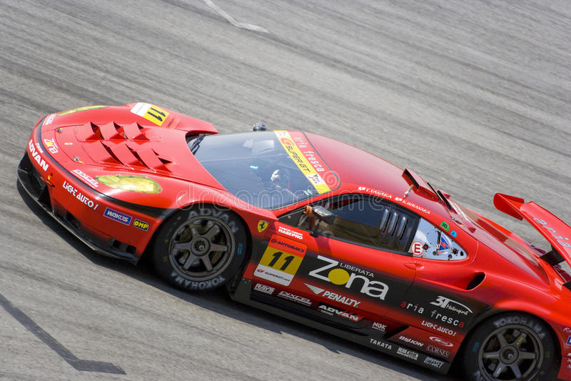 Japan Super-GT 2009 - Teamjim-Gewinner-Laufen stockfotografie