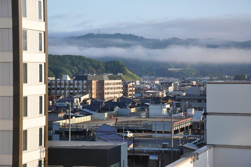 Japan Takayama Cityscape arkivbild