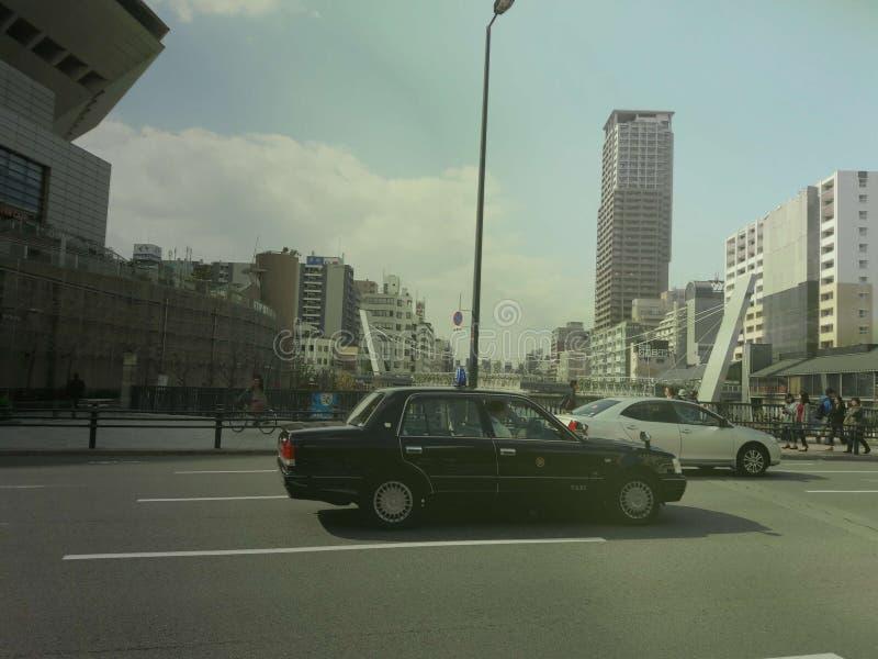 japan taxi in Osaka, Japan royalty free stock image