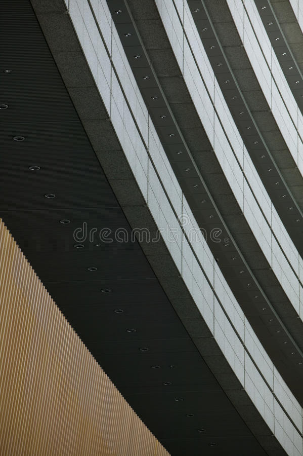 Japan Tokyo modern building close up low angle royalty free stock images